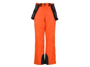 Chłopięce spodnie narciarskie KILPI MIMAS-JB pomarańczowy 19