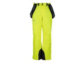 Chłopięce spodnie narciarskie KILPI MIMAS-JB żółte 19
