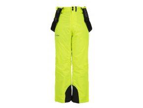 Chłopięce spodnie narciarskie KILPI METHONE-JB żółte 19
