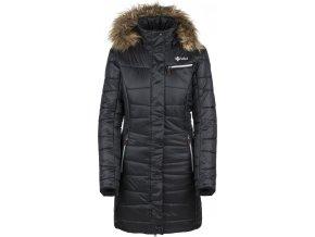 Damski pikowany płaszcz zimowy KILPI BAARA-W czarny 19