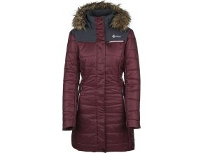 Damski pikowany płaszcz zimowy KILPI BAARA-W czerwony 19