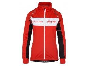 Koszulka rowerowa z długim rękawem damska KILPI ZESTER-W Czerwona 19