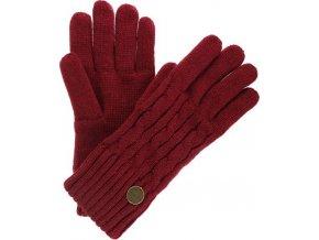 Damskie rękawiczki zimowe REGATTA RWG044 Multimix Glove II Bordowe