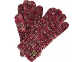 Rękawiczki damskie Regatta RWG039 FROSTY Bordowe