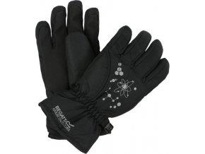 Dziecięce rękawice narciarskie Regatta ARLIE II Czarne