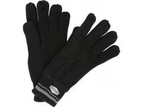 Męskie rękawice dzianinowe Regatta RMG018 BALTON Glove Czarne