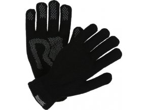 Rękawice dzianinowe Regatta RUG006 BREVIS Gloves Czarne
