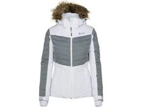 Damska kurtka narciarska KILPI BREDA-W biała (DUŻY ROZMIAR)