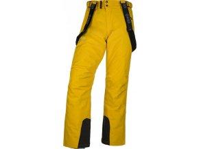 Męskie spodnie narciarskie KILPI MIMAS-M żółta (DUŻY ROZMIAR)