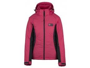 Damska kurtka narciarska KILPI CHIP-W różowa (DUŻY ROZMIAR)