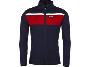 Męski sweter KILPI CARDIG-M czerwony 19 (DUŻY ROZMIAR)