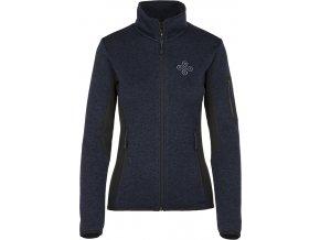 Damski sweter z polaru KILPI RIGANA-W niebieski 19 (DUŻY ROZMIAR)
