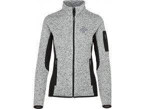 Damski sweter z polaru KILPI RIGANA-W szary 19 (DUŻY ROZMIAR)