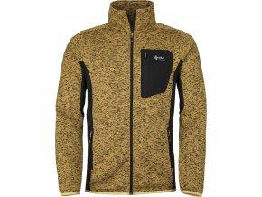 Męski sweter z polaru KILPI RIGAN-M żółty 19 (DUŻY ROZMIAR)