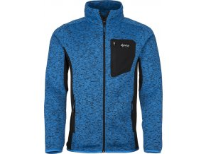 Męski sweter z polaru KILPI RIGAN-M niebieski 19 (DUŻY ROZMIAR)