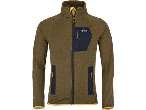 Męska bluza stretchowa KILPI ERIS-M żółta (DUŻY ROZMIAR)