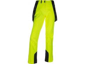 Spodnie softshell damskie KILPI RHEA-W Żółte 19 (DUŻY ROZMIAR)