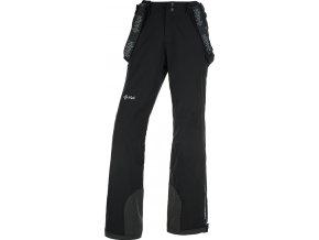 Damskie narciarske spodnie KILPI EUROPA-W Czarny 19 (DUŻY ROZMIAR)