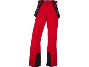 Spodnie narciarskie damskie KILPI ELARE-W Czerwone 19 (DUŻY ROZMIAR)