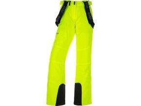 Spodnie narciarskie damskie KILPI ELARE-W Żółte 19 (DUŻY ROZMIAR)