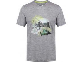 Szary t-shirt męski Regatta RMT188 Fingal IV