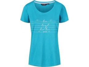 Niebieski t-shirt damski Regatta Filandra III RWT171