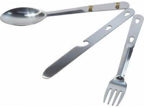 81686 zestaw sztu cow turystycznych dla 1 osoby regatta rce129 steel cutlery set