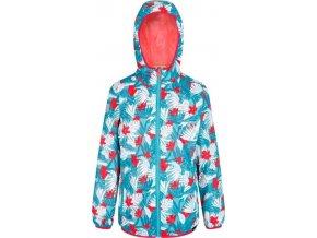 Dziecięca kurtka przeciwdeszczowa z kapturem wzorzysta Regatta RKW176 Lever