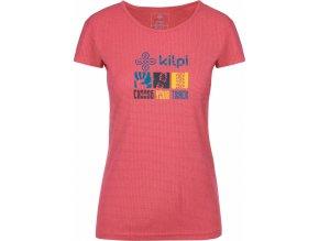 Damska koszulka funkcjonalna KILPI GIACINTO-W Różowy 19 (DUŻY ROZMIAR) 1