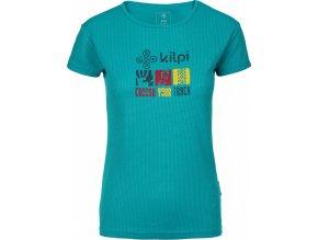 Dámské funkční tričko KILPI GIACINTO-W Tyrkysová 19 (NADMĚRNÁ VELIKOST)