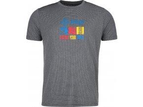 Męska koszulka funkcyjna KILPI GIACINTO-M Szary 19 (DUŻY ROZMIAR)