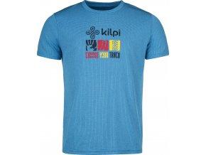 Pánské funkční tričko  KILPI GIACINTO-M Modrá 19 (NADMĚRNÁ VELIKOST)
