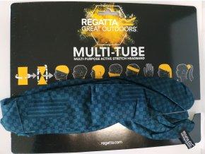 Multifunkční šátek Regatta RMC052 Multitube Printed Modrý