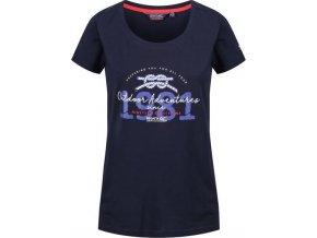 82295 granatowy t shirt damski regatta filandra iii rwt171