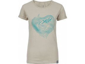 Koszulka bawełniana damska KILPI YANI-W Beżowa 19 1