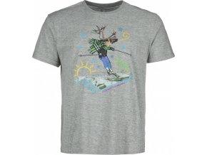Męska koszulka bawełniana KILPI LEUS-M Szara 19 1