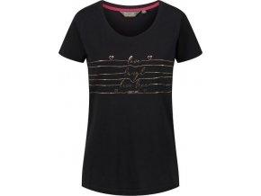Czarny t-shirt damski Regatta Filandra III RWT171