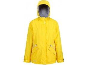 Żółta kurtka Regatta RWW316 przeciwdeszczowa damska Basilia