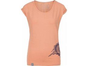 Koszulka bawełniana damska KILPI OLIVA-W Łososiowa 19 b