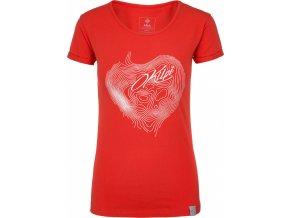 Koszulka bawełniana damska KILPI YANI-W Czerwona 19 b
