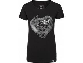 Koszulka bawełniana damska KILPI YANI-W Czarna 19 b