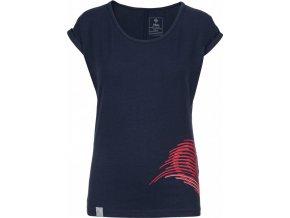 Koszulka bawełniana damska KILPI OLIVA-W Niebeska 19 b