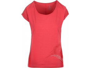 Koszulka bawełniana damska KILPI OLIVA-W Różowa 19 b