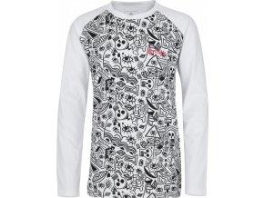 Bawełniana koszula dziewczyny KILPI VANILA-JG  Bialy kolor 19 b