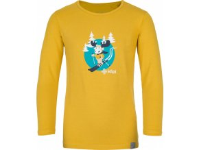 Bawełniana koszula dziecięca KILPI LERO-J Żółty kolor 19 b