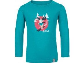 Bawełniana koszula dziecięca KILPI LERO-J Turkusowy kolor 19 b