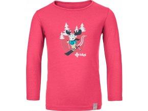 Bawełniana koszula dziecięca KILPI LERO-J Różowy kolor 19 b