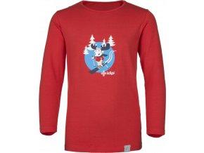 Bawełniana koszula dziecięca KILPI LERO-J Czerwony kolor 19 b