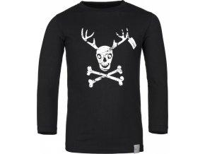Bawełniana koszula chłopca KILPI HARDY-JB Czarny kolor 19 b