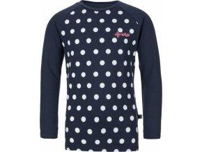 Bawełniana koszula dla dziewczyny KILPI VANILA-JG Niebieska 19 b